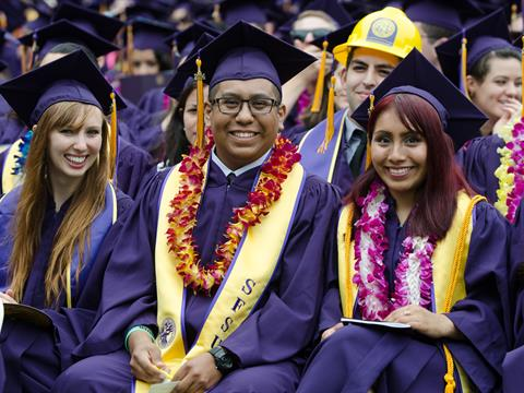 Students at San Francisco State Commencement