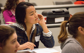 Photo of student in class