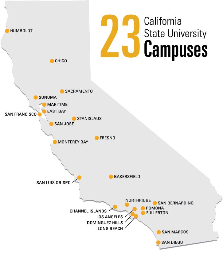 23 California State University Campuses