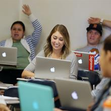 Students in Class with Computers at Cal State LA