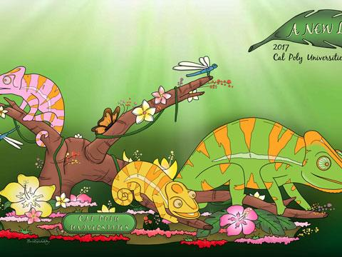 Sketch of Rose Parade float