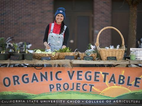 Organic Vegetable Project in the SSC Plaza on Wednesday, March 8, 2017 in Chico, Calif.