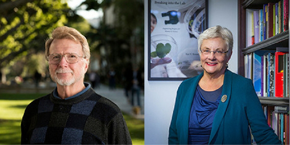 Retired CSU Dominguez Hills Provost ​Dave Dowell and San Francisco State Provost Sue Rosser
