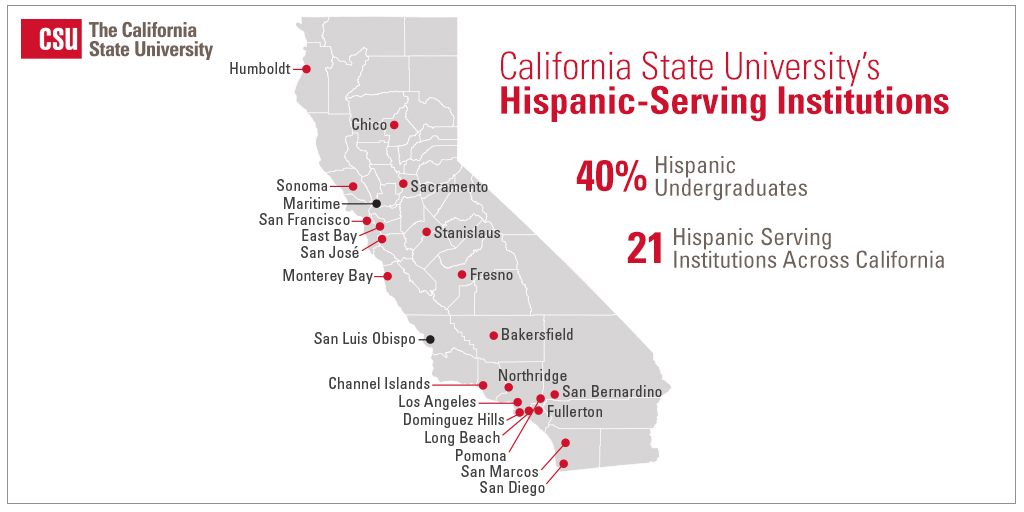 Csu San Marcos Campus Map.Two Additional Csu Campuses Become Hispanic Serving Institutions Csu