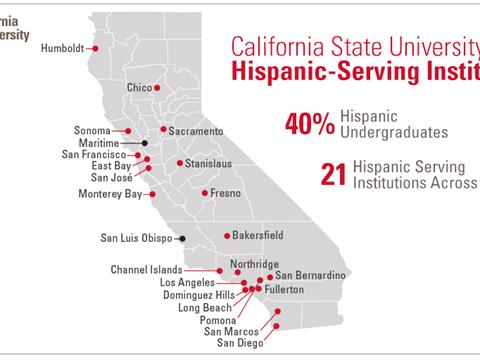 Hispanic Serving Institutions Map