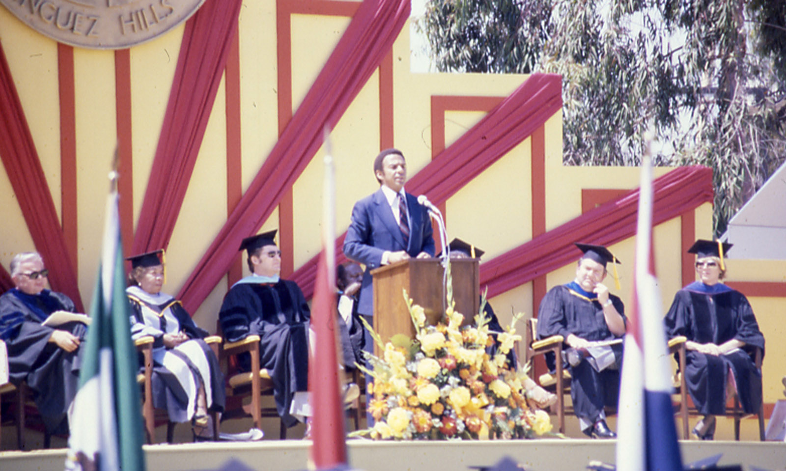 Former Ambassador to the United Nations Andrew Young speaks at Commencement, June 14, 1980.