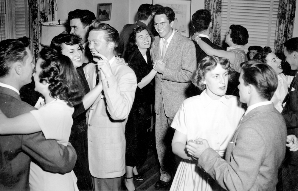 LOS ANGELES   1960sCouples revel at a dance party.