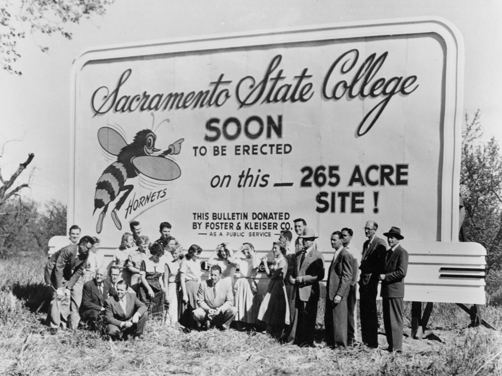 SACRAMENTO   April 1, ​1951The current location of Sacramento State opens in 1952. Between 1947-1951, the campus shared facilities with Sacramento City College.