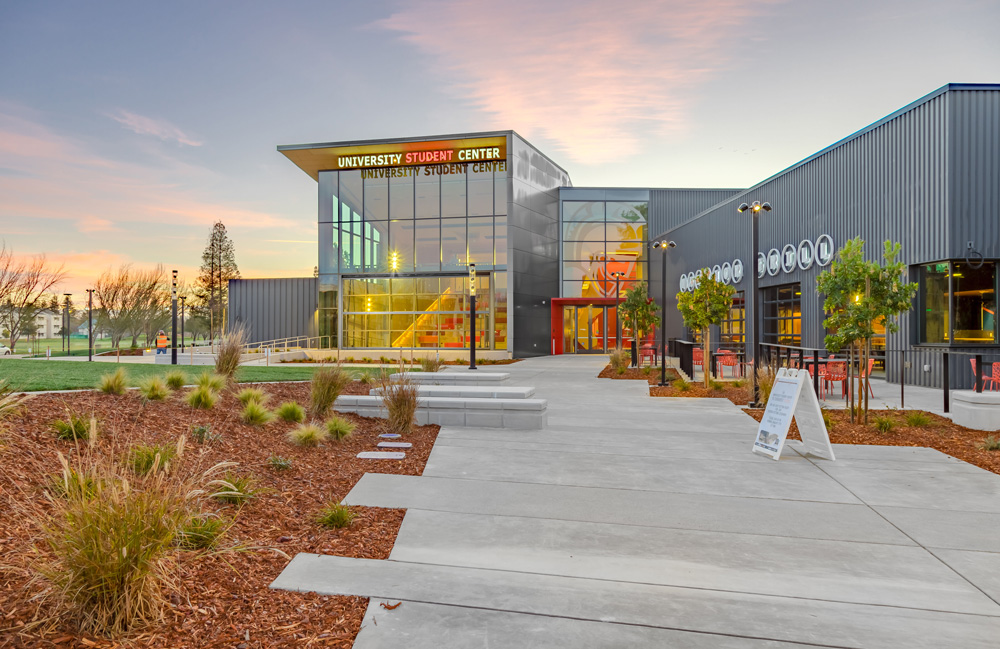 2020Stanislaus State's University Student Center celebrates its grand opening. The design planning team consists of students and professional staff.