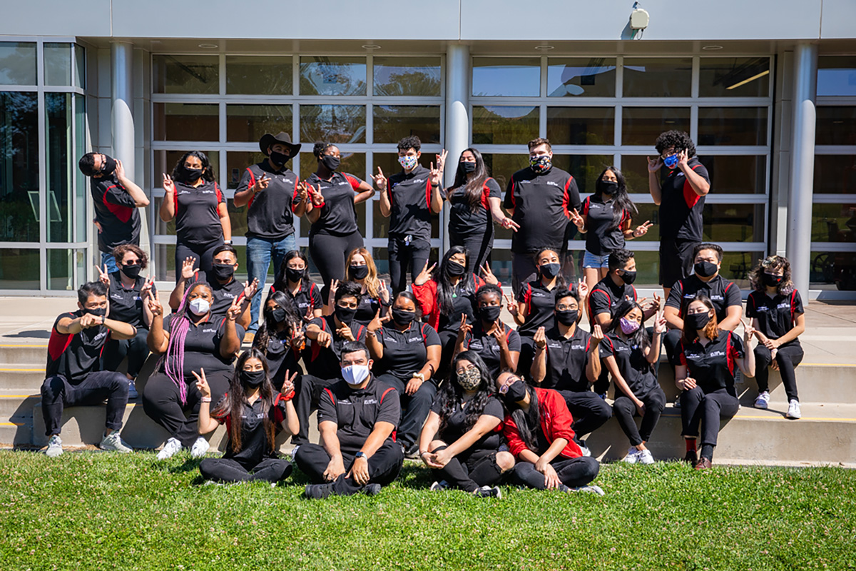 The CSUEB orientation team poses for a photo on July 20, 2020.