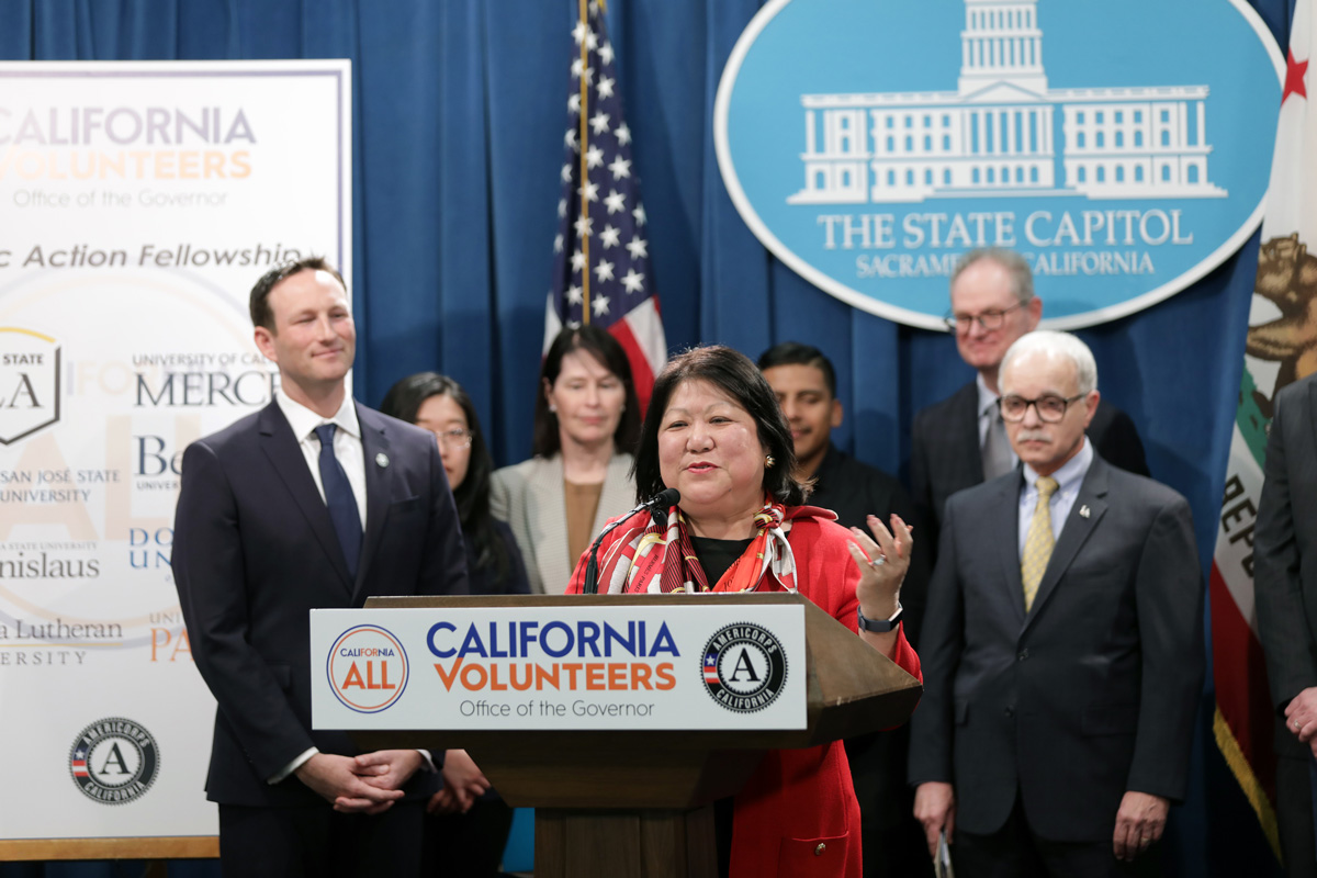 Stanislaus State President Ellen Junn announces a California Civic Action Fellowship.