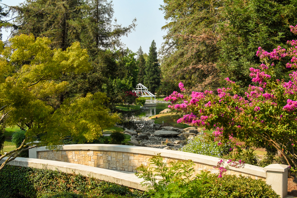 The Sequoia Lake Gazebo on a summer day, a popular location for weddings and other community functions.