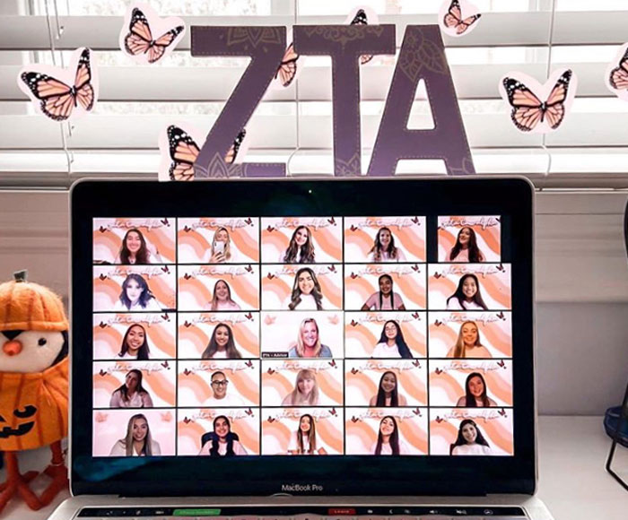 Cal State Long Beach's Zeta Tau Alpha sorority chapter prepares for virtual recruitment.