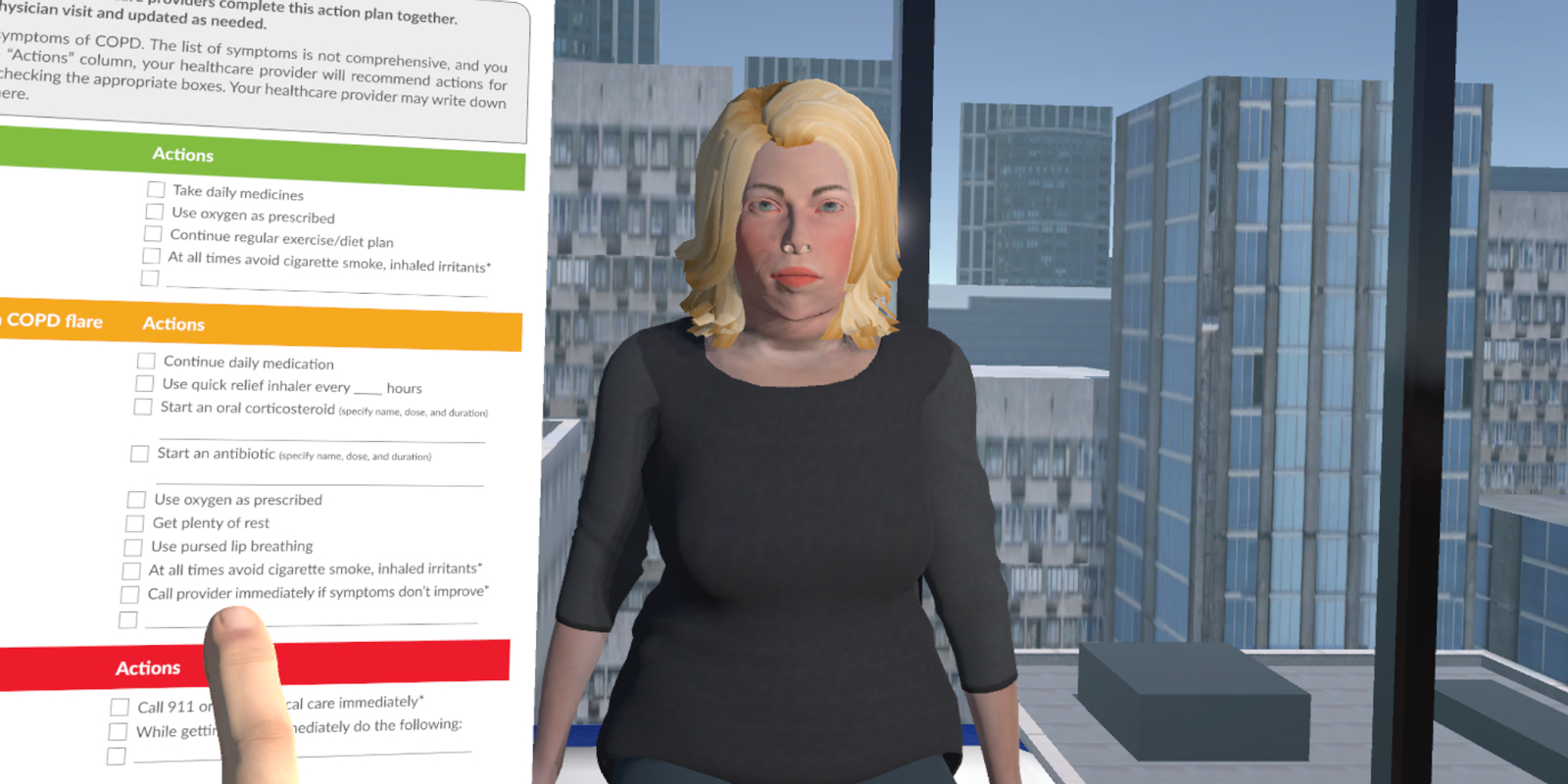 The CSUSB xREAL used artificial intelligence to animate avatars for an experience that allows nursing students to practice interacting with patients.