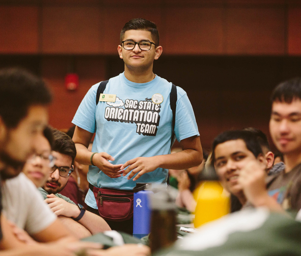 Ignacio works as an orientation leader at Sacramento State.