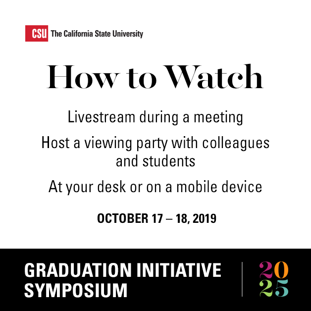 How to watch livestream durring a meeting Graduation Initiative Symposium