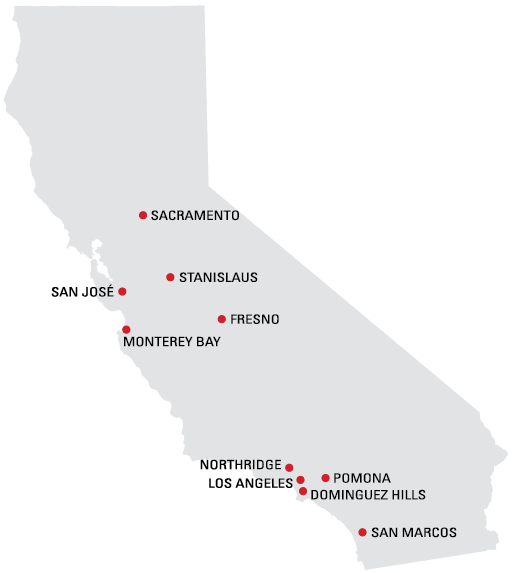 CSU campus map of california