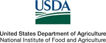 USDA Logo - United States Department of Agriculture; National Institute of Food and Agriculture
